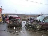 Accident pe DN68A. Doi oameni au murit după o coliziune frontală violentă