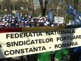Angajații nemulțumiți protestează în Portul Constanța