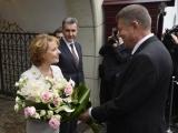 Klaus Iohannis şi prima doamnă, invitaţi la dineul oferit de Casa Regală la Castelul Peleş. Principesa Margareta şi-a aniversat ziua de naştere