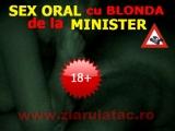 SEX ORAL cu BLONDA de la MINISTER