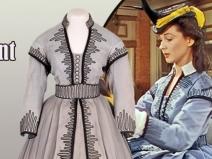 O rochie purtată de Vivien Leigh în filmul 'Pe aripile vântului', vândută cu 137.000 de dolari