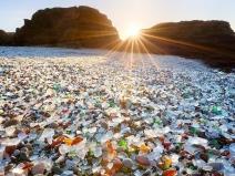 Plaja de sticlă din California