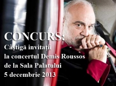 CONCURS: Câştigă invitaţii la concertul Demis Roussos de la Sala Palatului