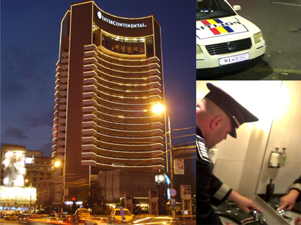 Hotelul Intercontinental, WC-ul poliţiştilor VIDEO